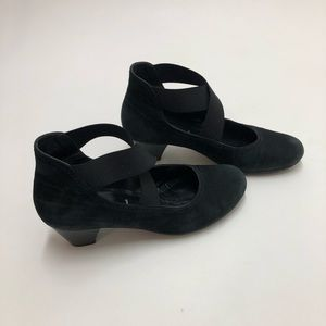 Gabor Hovercraft Cross Strap Heels Size 5